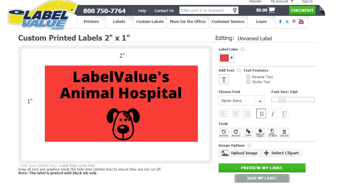 Build Your Own Vet Labels