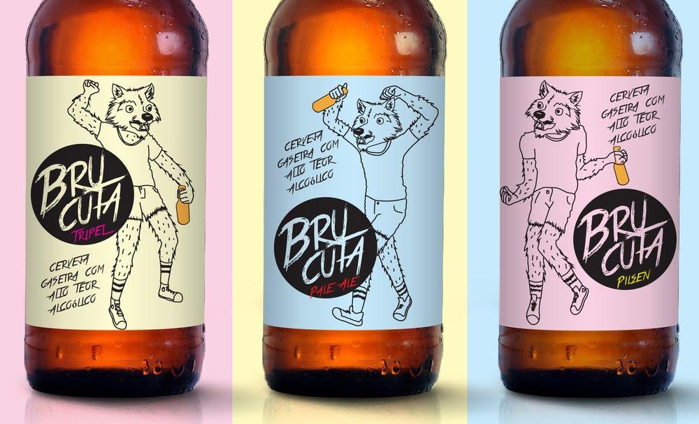 crazy beer label design