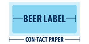 Waterproof your beer labels | Con-tact Paper