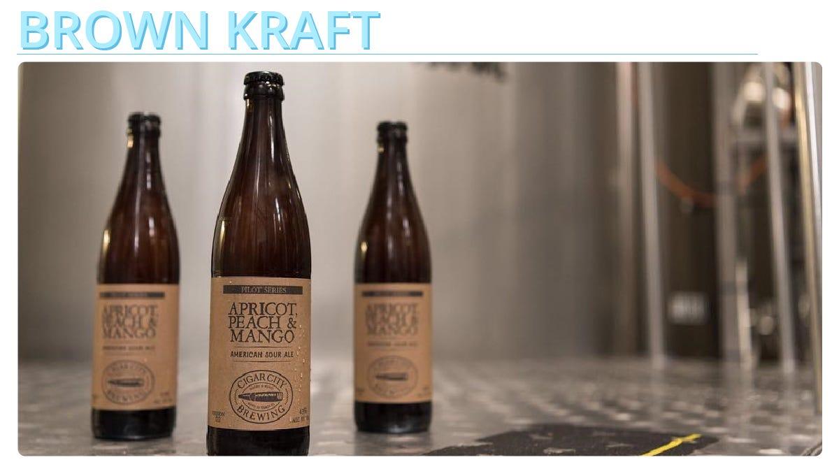 Brown Kraft Material Examples - Custom Digital Labels